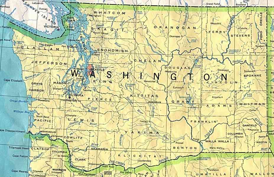 map of washington state 8 Map Of Washington State