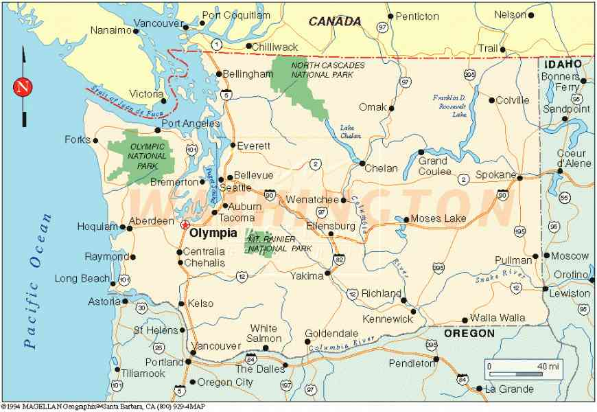 map of washington state 37 Map Of Washington State