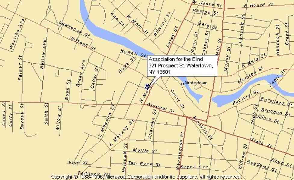 map of watertown ny