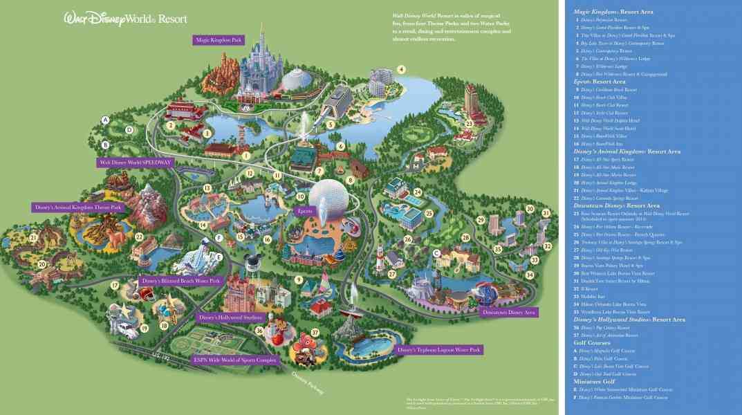 map of wdw 7 Map Of Wdw