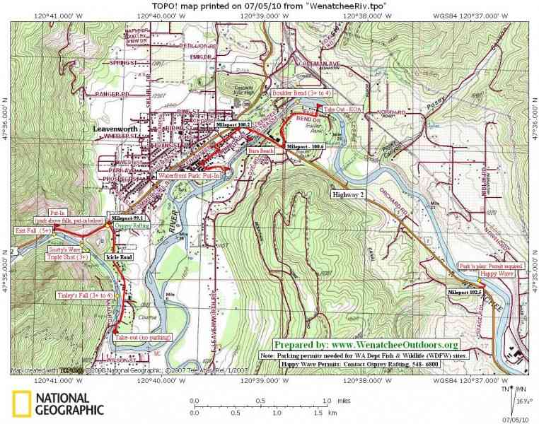 map of wenatchee 193 Map Of Wenatchee