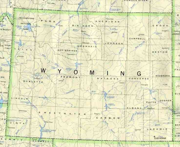 map of wyoming 4 Map Of Wyoming