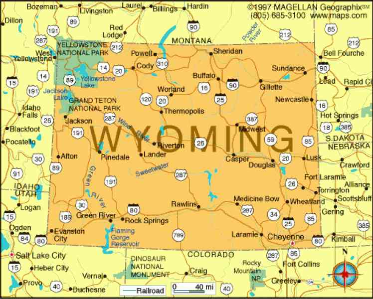 map of wyoming 700 Map Of Wyoming