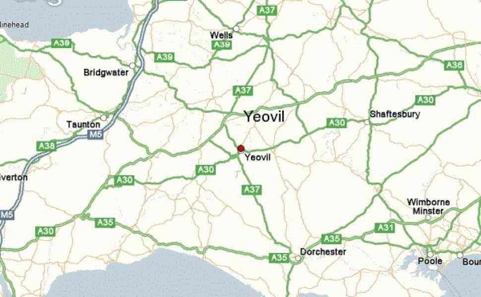 map of yeovil 39 Map Of Yeovil