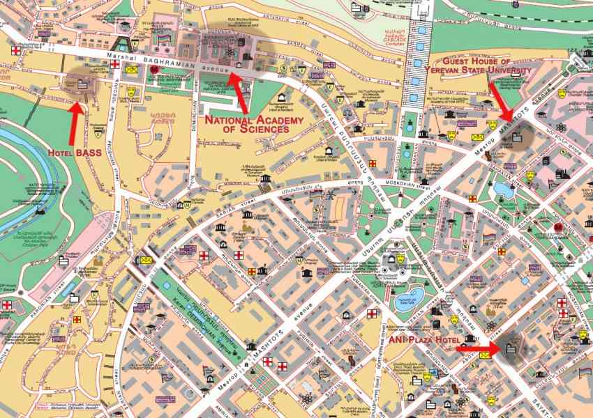Map Of Yerevan HolidayMapQcom - yerevan map
