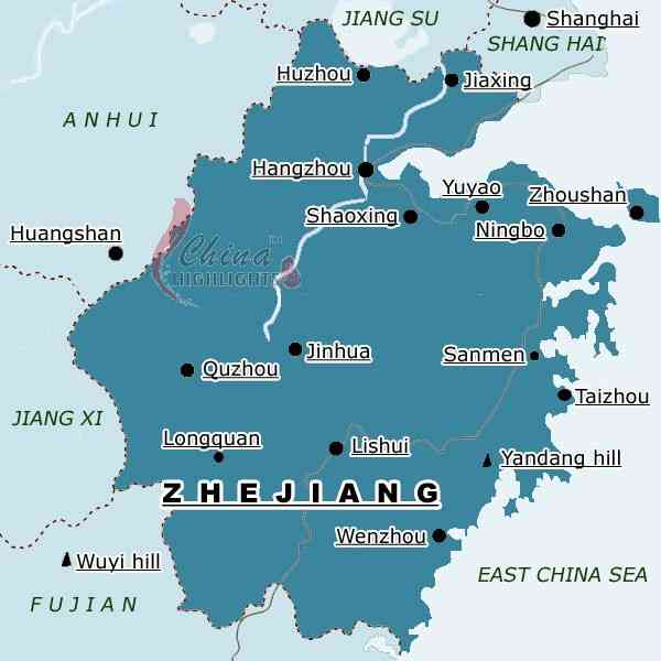 map of zhejiang 243 Map Of Zhejiang