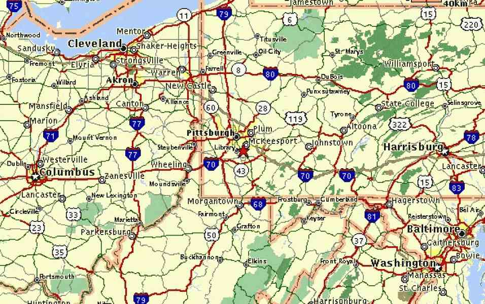 Map Of West Virginia And Pennsylvania Afputracom - Road map of pa