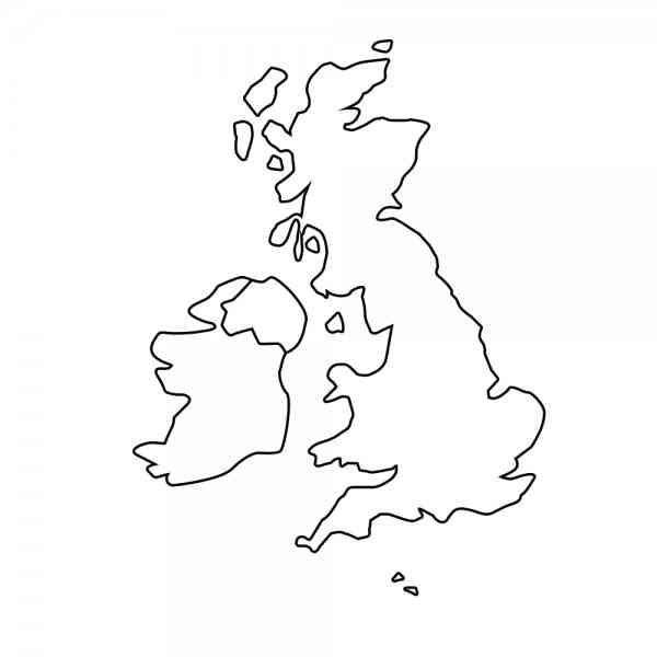 map outline of uk 9 Map Outline Of Uk