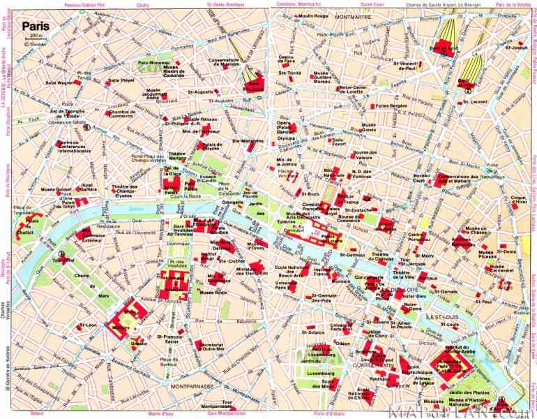 map paris attractions 6 Map Paris Attractions