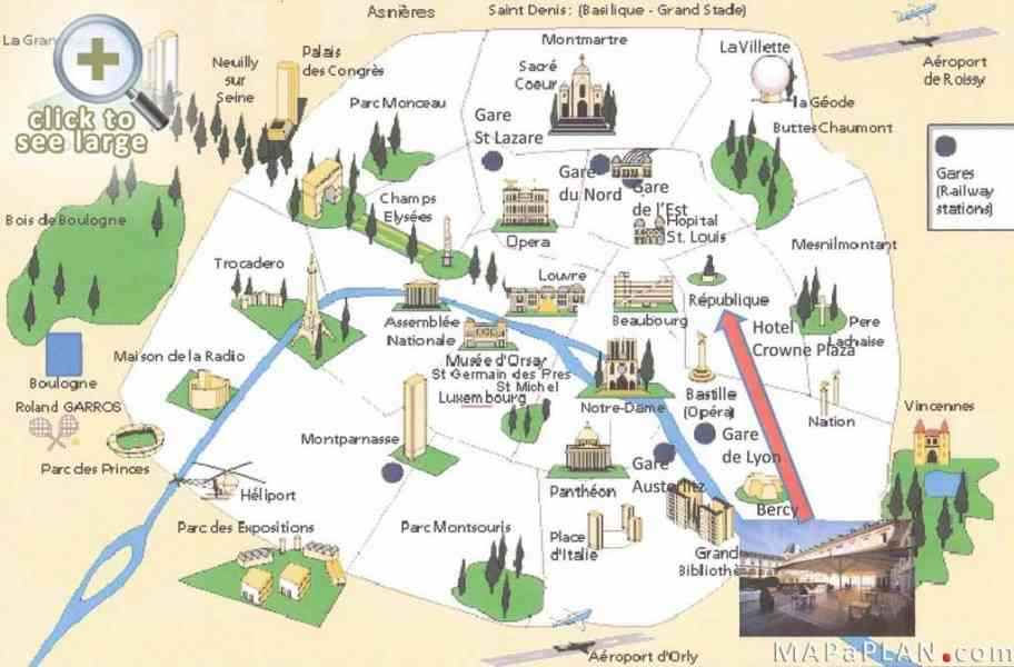 map paris attractions 476 Map Paris Attractions