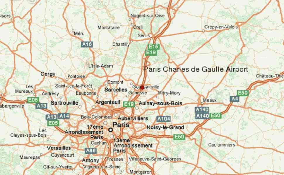 map paris charles de gaulle airport