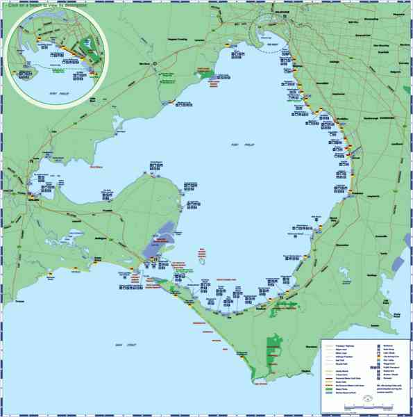 map port phillip bay 2 Map Port Phillip Bay