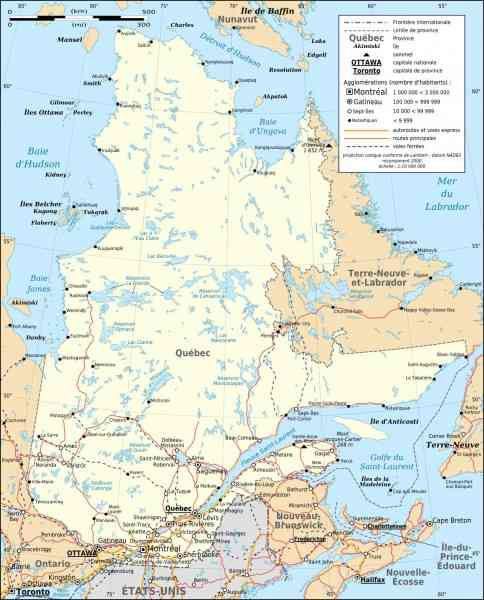 map province quebec 8 Map Province Quebec