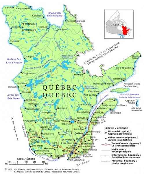 map province quebec 14 Map Province Quebec