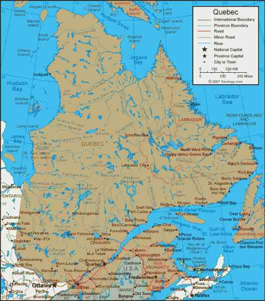 map province quebec 23 Map Province Quebec