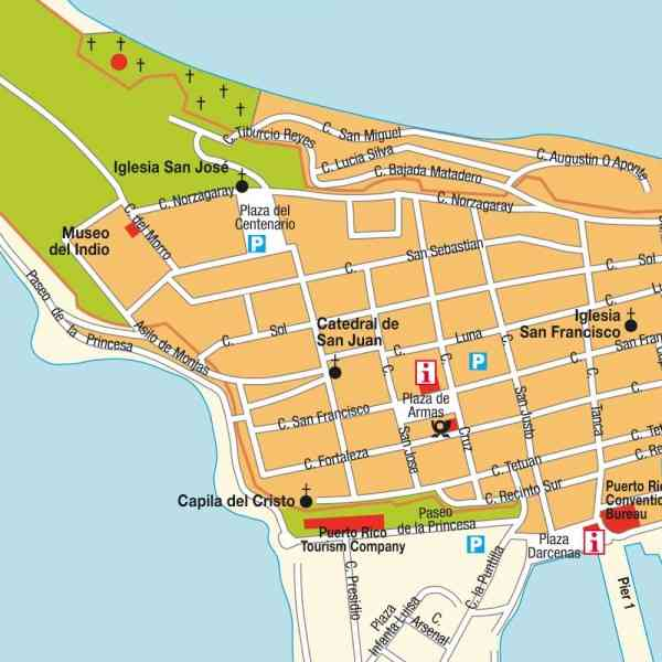 Map Puerto Rico San Juan – Tourist Map Of San Juan Puerto Rico