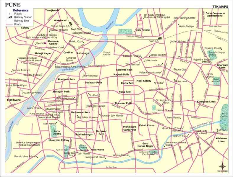 map pune city 10 Map Pune City