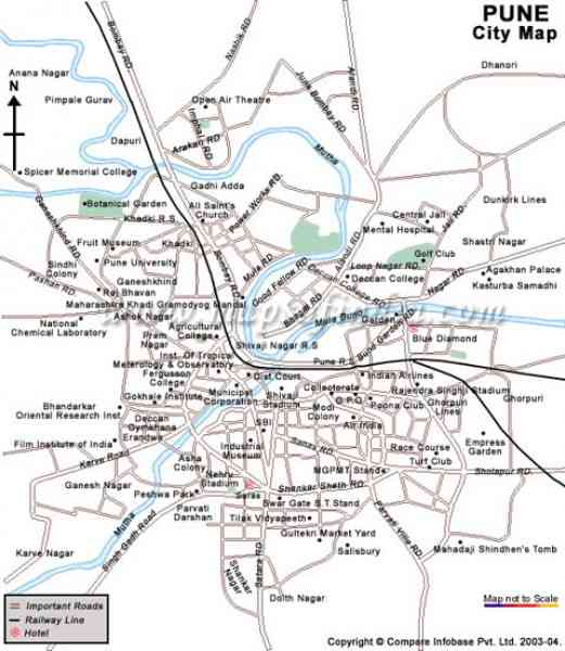 map pune city 23 Map Pune City