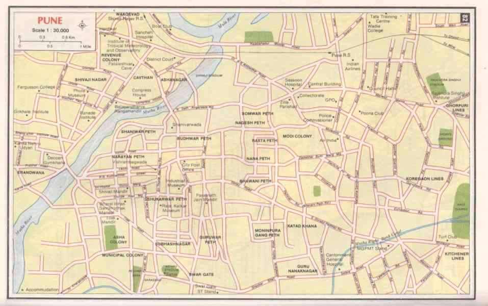 map pune city 111 Map Pune City