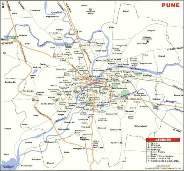 map pune city 775 Map Pune City