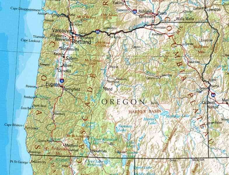 Map Quest Oregon 127 Map Quest Oregon