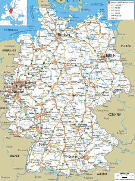 map road germany 5 Map Road Germany