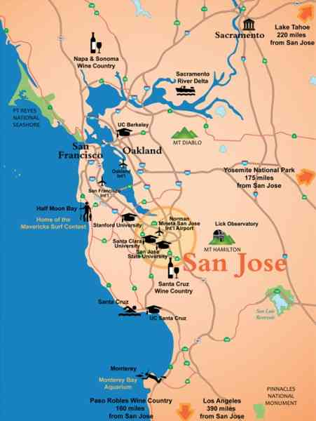 map san jose california 172 Map San Jose California