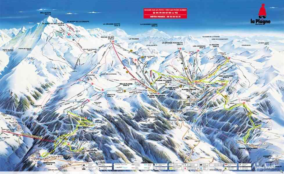 map ski resort france 134 Map Ski Resort France