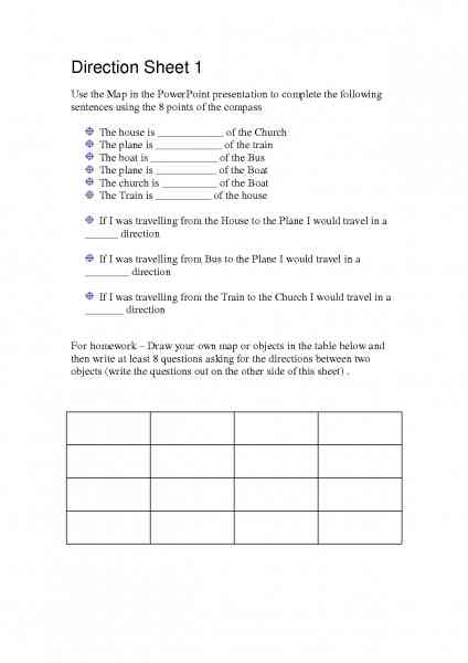 map skill worksheet 84 Map Skill Worksheet