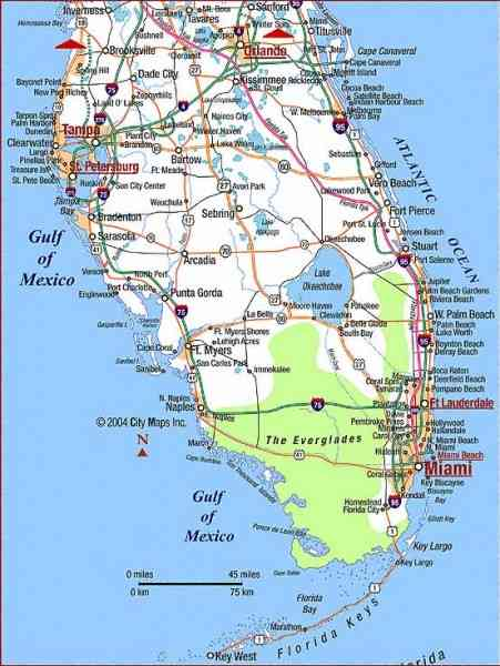 map south east florida 208 Map South East Florida