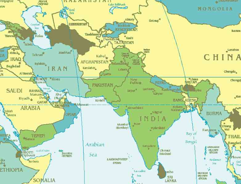 map south west asia 273 Map South West Asia