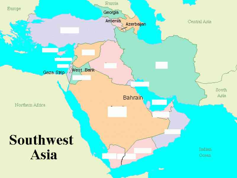 map south west asia 65 Map South West Asia