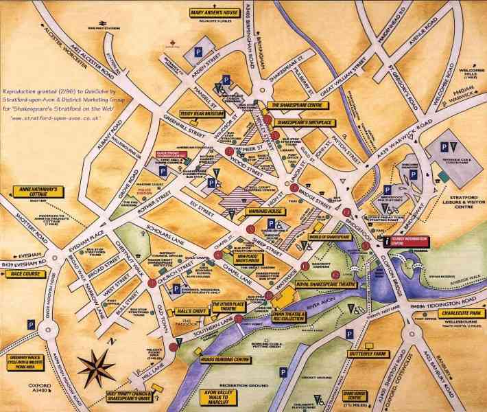 map stratford upon avon 101 Map Stratford Upon Avon