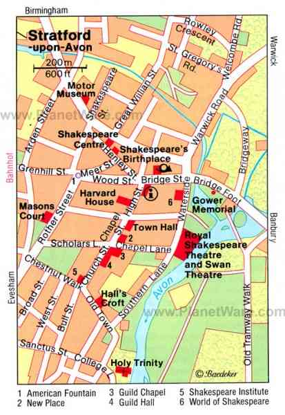 map stratford upon avon 701 Map Stratford Upon Avon