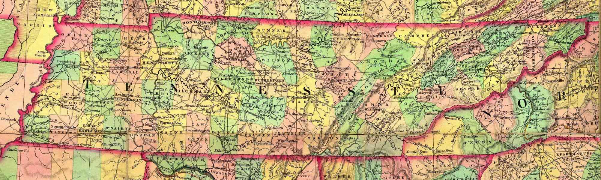 Map Tennessee