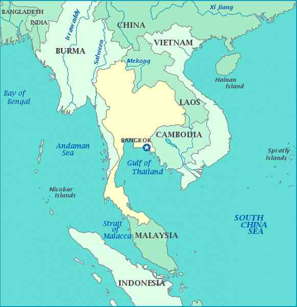 map thailand and malaysia 286 Map Thailand And Malaysia