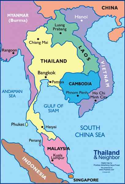 map thailand and malaysia 665 Map Thailand And Malaysia