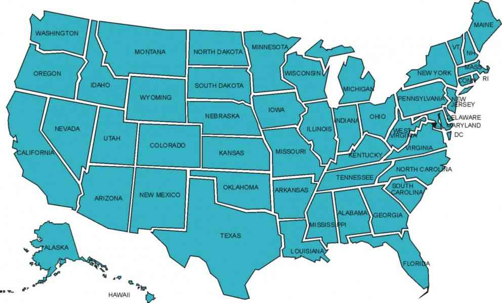 Map Us States Map Holiday Travel HolidayMapQcom - Maps of us states