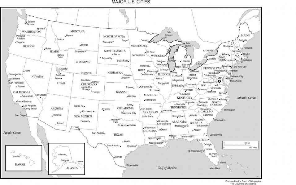 Map And Cities Of Usa Us Map With Cities And Highways Inspiring Us Map Labeled