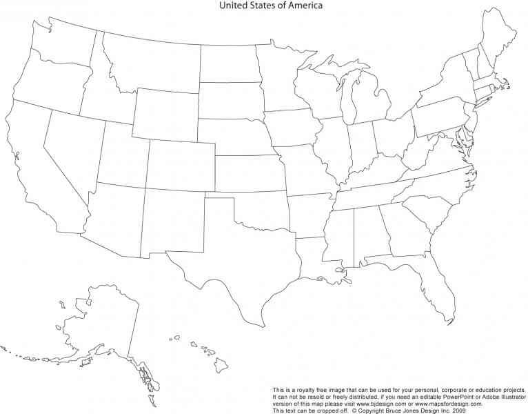 Geography Blog Outline Maps United States Blank Map Of Usa To - A blank map of the us