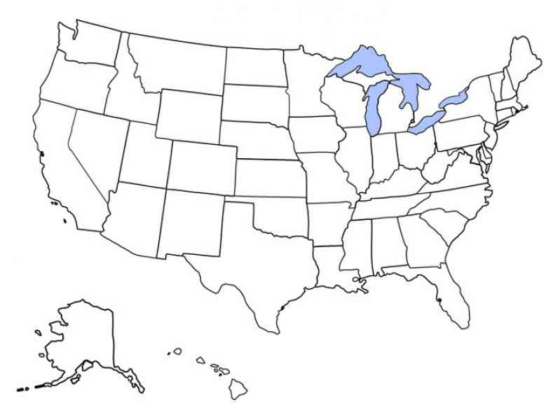 Map Us States Blank - Map of us states no names