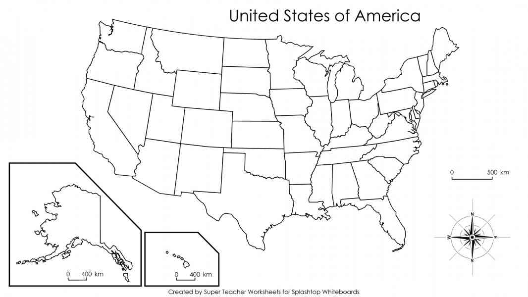 States Blank Map My Blog - Blank map us states
