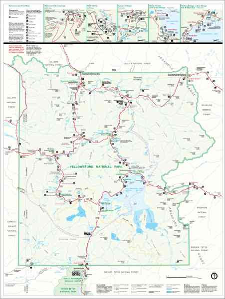 yellowstone map 327 Yellowstone Map