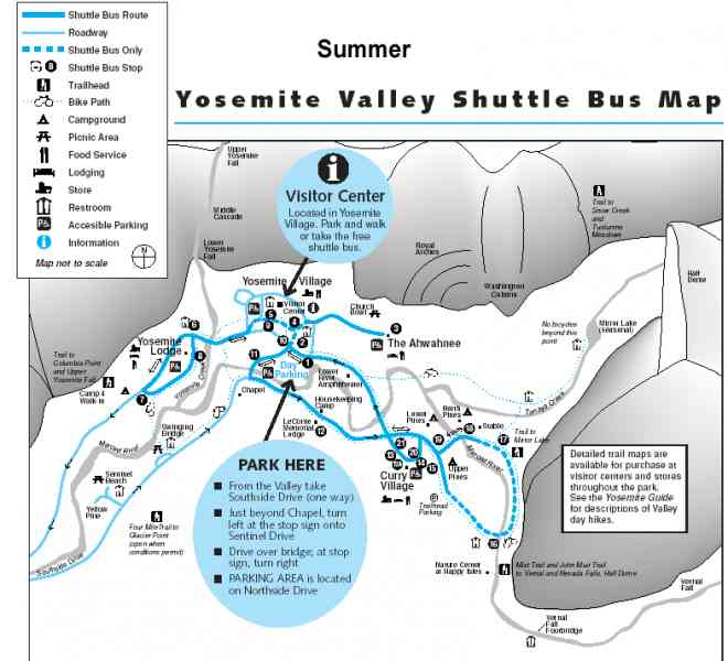 yosemite valley map 10 Yosemite Valley Map