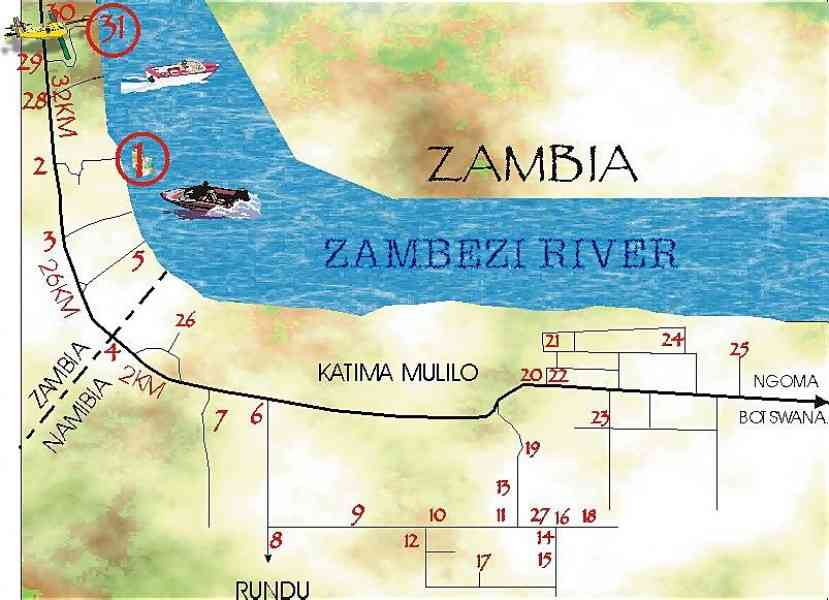zambesi river map 36 Zambesi River Map