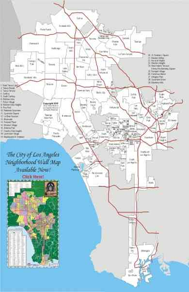 Zip Code Map For Los Angeles  Map  Holiday  Travel