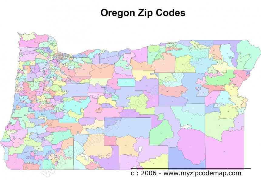 oregon postcode