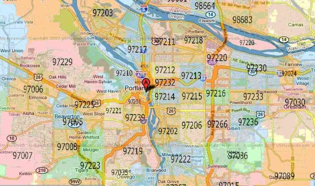 zip code map for portland oregon 61 Zip Code Map For Portland Oregon