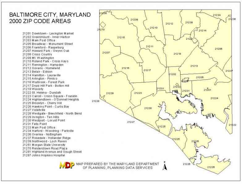 Baltimore Zip Code Map Baltimore City Map With Zip Codes | Zip Code MAP Baltimore Zip Code Map