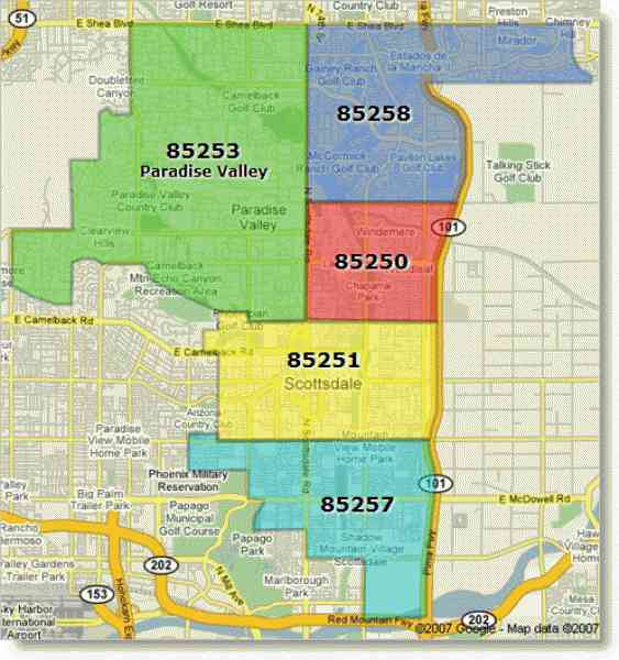 zip code map of phoenix arizona 571 Zip Code Map Of Phoenix Arizona